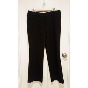 LOFT Black Julie Trouser size 12 Like New